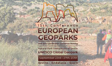15th European Geoparks ConferenceSeptember 23rd – 27th, 2019 Seville-Andalusia, Spain