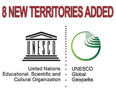 8 new territories added to the UNESCO Global Geoparks!