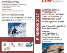 Course UIMP: Glaciers, snow and permafrost of mountain in Sobrarbe-Pirineos Geopark