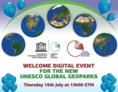 WELCOME DIGITAL EVENT   for the new UNESCO Global Geoparks 16 July 2020 at 15:00 GMT