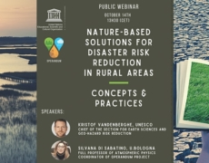 "UNESCO Webinar   ""Nature-based Solutions for Disaster Risk Reduction in rural areas"""